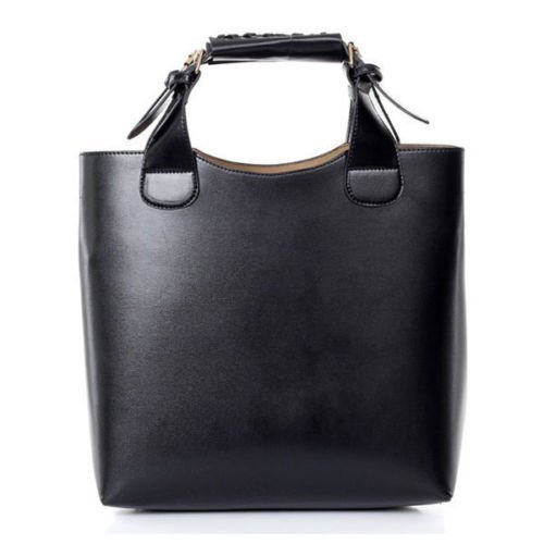 Womens Shoulder Tote Hobo Handbag Black