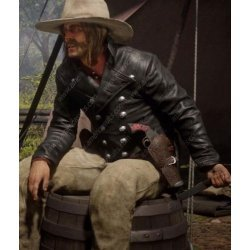 Red Dead Redemption 2 Micah Bell Tail Leather Coat
