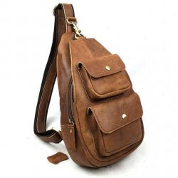 Retro Crazy Horse Leather Package Bag