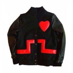 Rihanna Valentine's Day Black Leather jacket