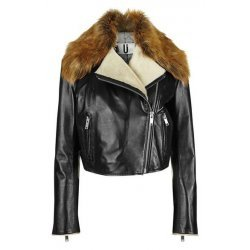 Sadler' Genuine Shearling & Lambskin Leather Jacket