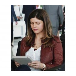 San Andreas Movie Alexandria Daddario Leather Jacket