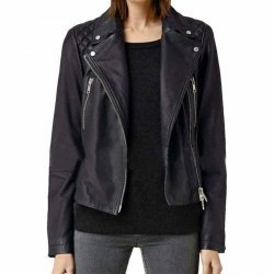 Sarah Sokolovic Homeland Black Leather Jacket
