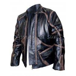 Sebastian Stan Bucky Barnes Black Leather Jacket