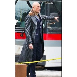 Shazam Dr Thaddeus Sivana Black Leather Coat