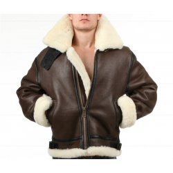 Shearling Bomber Brown Leather jacket