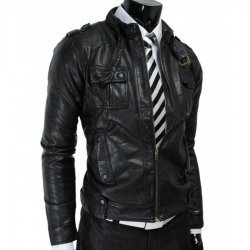 Slim fit Mens Vintage Leather Jacket