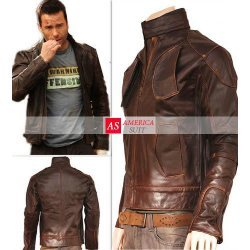 Lockout Guy Pierce Distressed Leather Jacket