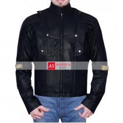 Starlord Guardians of the Galaxy Chris Black Leather Jacket