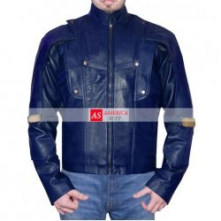 Blue Inspired Leather Jacket