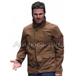 Stephan Ammel Brown Oliver Queen Jacket