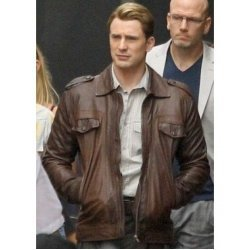 Steve Rogers The Avenger Leather Jacket
