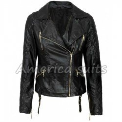Stylish Black Leather Jacket For Women
