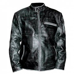 Tom Cruise Black Distressed Motorbike Leather Jacket