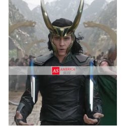 Tom Hiddleston Thor Ragnarok Loki Leather Jacket
