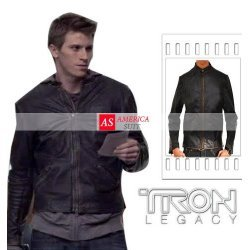 Tron Legacy Sam Flynn Leather Moto Jacket