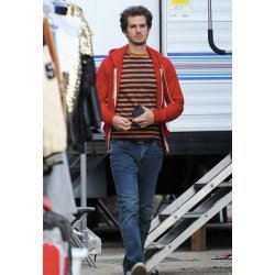 Under The Silver Lake Andrew Garfield Red Jacket