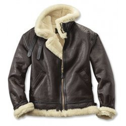 Warm Bomber Leather Jacket With Fur