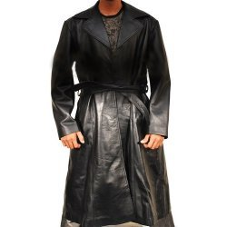 Wesly Snipes Blade Triinity Long Leather Coat