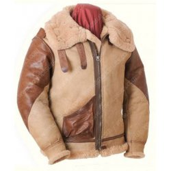 Winter Bomber Shearling Leather Jacket