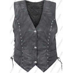 Women Biker Leather Vest