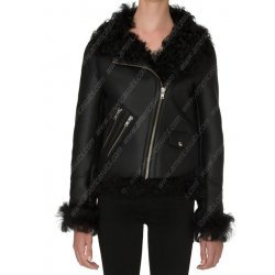 Women Biker Winter Shearling Jacket