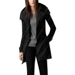 Women Black Belted Trench Coat