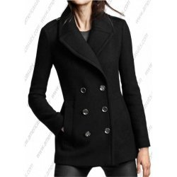 Women Black Wool Peacoat