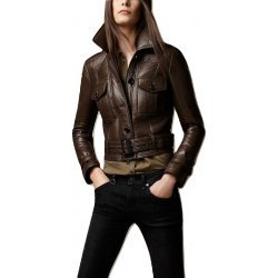 Women Brown Stylish Leather Jacket