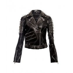 Women Spikes Studded Punk Jacket