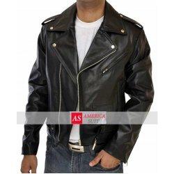 Terminator Asymmetrical Mens Marlon Black Premium Belted Moto Leather Jacket