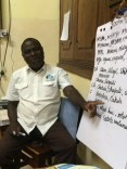 """""""Mwalimu"""" is a Kiswahili term of respect given to teachers. Here, in the AUA apartment in Stone Town, Mwalimu Joseph Mwamba teaches unofficial ambassadors to serve with pride, in Kiswahili."""