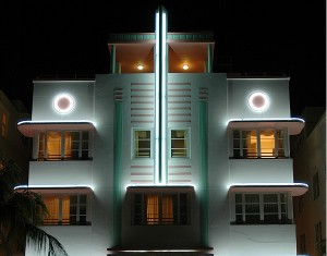 Ein sehenswertes Haus im Art Deco District in Miami