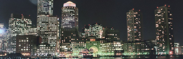 Boston in der Nacht