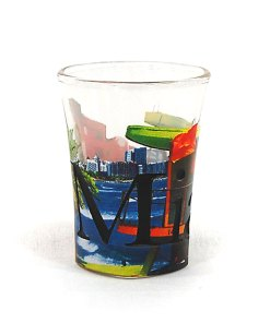 Miami Color Shot Glass