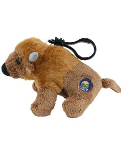 "Montana Bison 4"" Clip on Plush Side View"