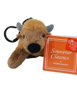"""Wyoming 4"""" Plush Clip on Bison Front View"""