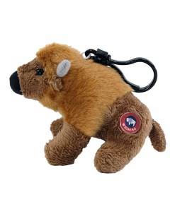 """Wyoming Bison 4"""" Clip on Plush Side View"""