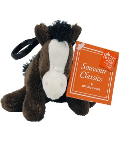 "Colorado 4"" Plush Clip on Horse Front View"