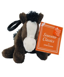 "Montana 4"" Plush Clip on Horse Front View"