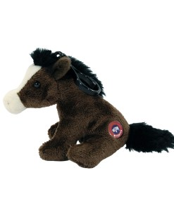 """Wyoming Horse 4"""" Clip on Plush Side View"""