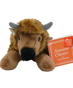 "Montana 7"" Plush Bison Front View"