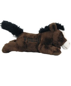 """Wyoming Horse 7"""" Plush Side View"""