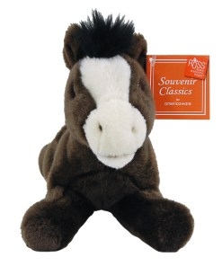 """Wyoming 9"""" Plush Horse Front View"""