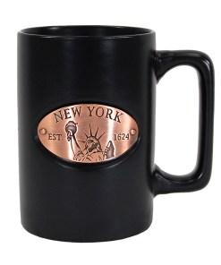 New York Black Copper Medallion Mug