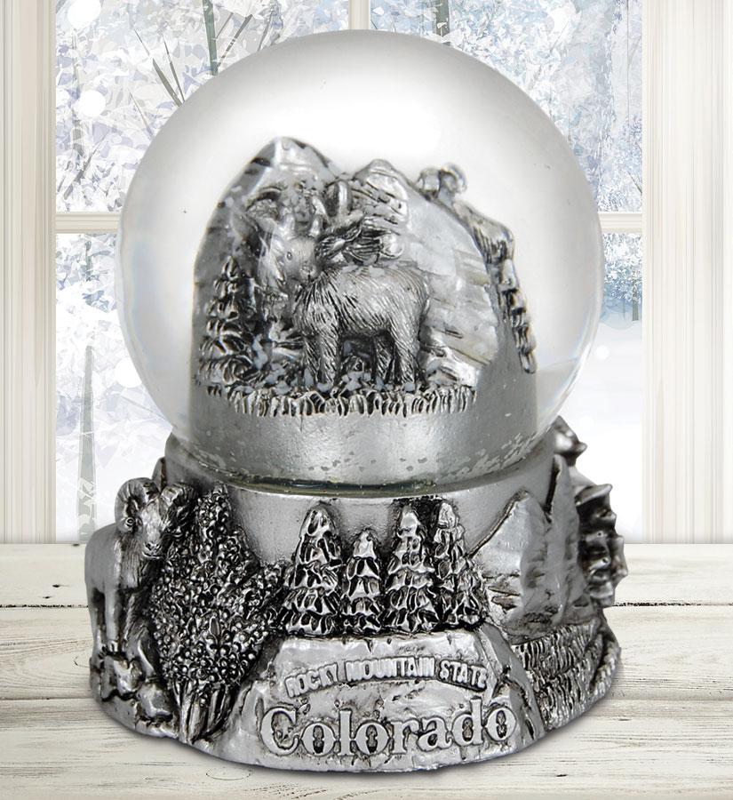 Colorado Pewter Snow Globe