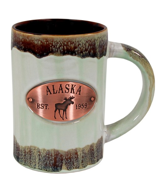 Alaska Copper Medallion Green Mug