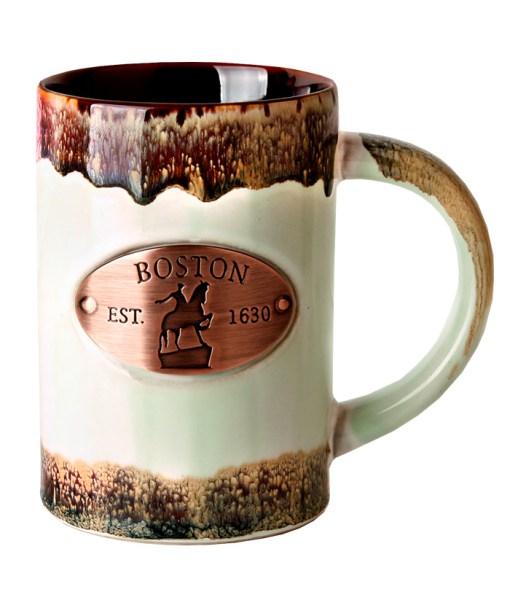 Boston Copper Medallion Green Mug