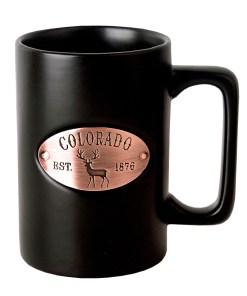 Colorado Copper Medallion Black Mug