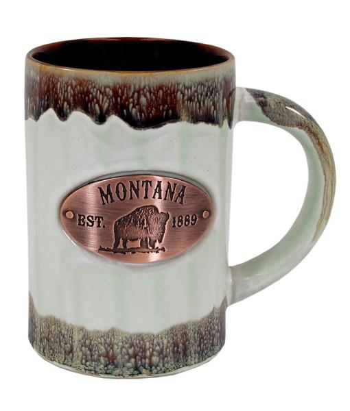 Montana Copper Medallion Green Mug
